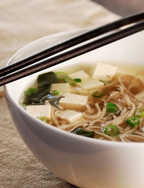Miso with Soba Noodles and Tofu