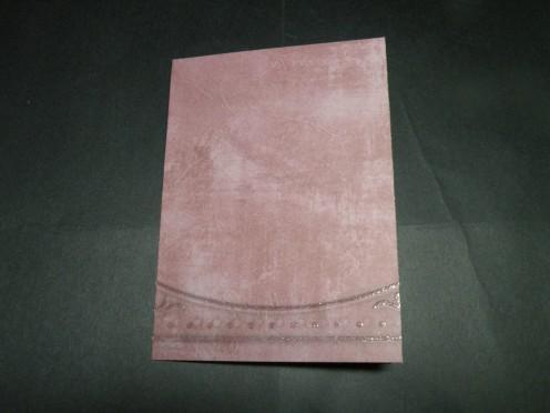 cardstock folded for base card
