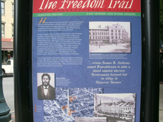 "Syracuse marker for ""The Freedom Trail."""