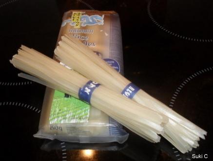 Blue Dragon noodles come in convenient one-portion bundles.