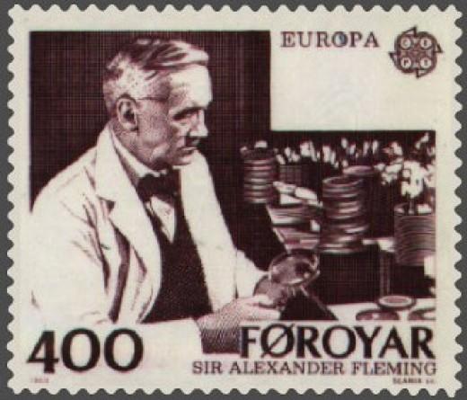 Sir Alexander Fleming, discoverer of penicillin.  Public domain image.
