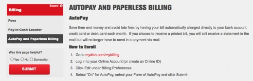 """To find out how to set up autopay for Dish Network, I just Googled, """"Dish Network Autopay"""""""