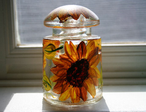Painting a glass insulator can destroy its value.
