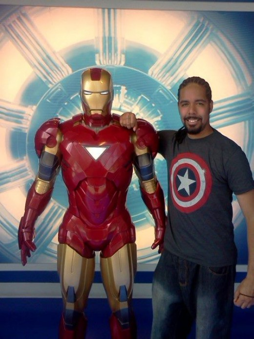My Son Mark with Iron Man!