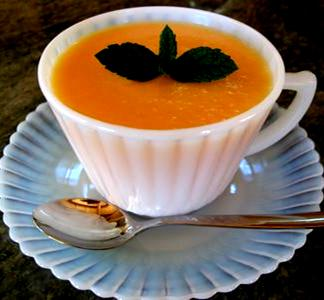 This Chilled Rum and Cantaloupe  Soup is to die for!