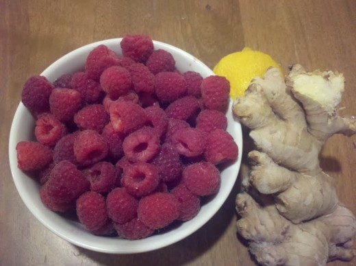 Raspberries, Ginger and Lemon -- a winning combination.