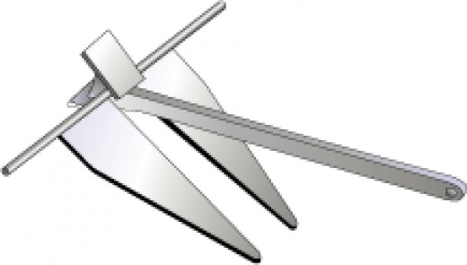 A Fluke or Danforth Anchor