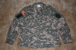 My husbands ACU jacket with all patches