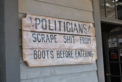 In the 1880's, this was not a joke.  They meant for politicians to actually do it before entering!