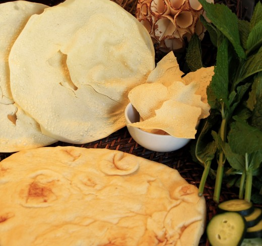 Naan Bread and Papadums
