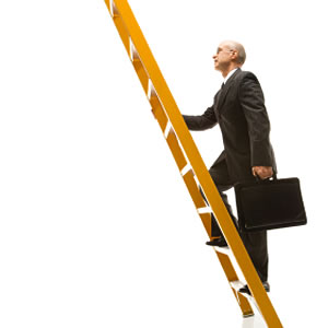 Climbing the corporate ladder.