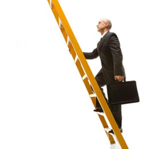Climbing the corporate ladder.