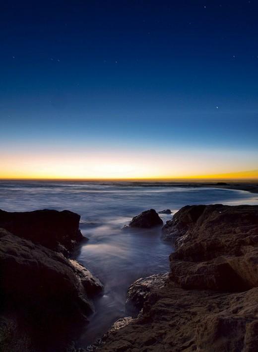 Incredible shot of a Nor Cal beach at sunrise