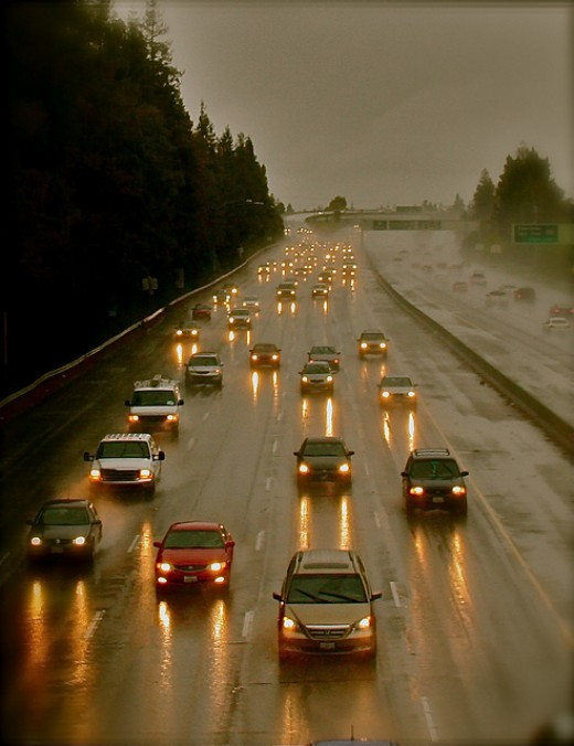 Hwy 17 on a rainy day.
