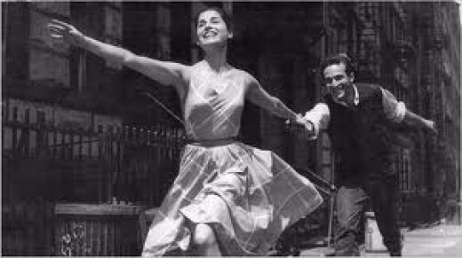 Carol Lawrence and Larry Kert in the original Broadway production.