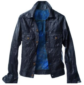"a ""leather"" jacket made completely from biocellulose fibers made in a lab!"