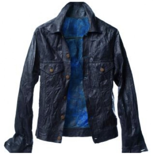 """a """"leather"""" jacket made completely from biocellulose fibers made in a lab!"""