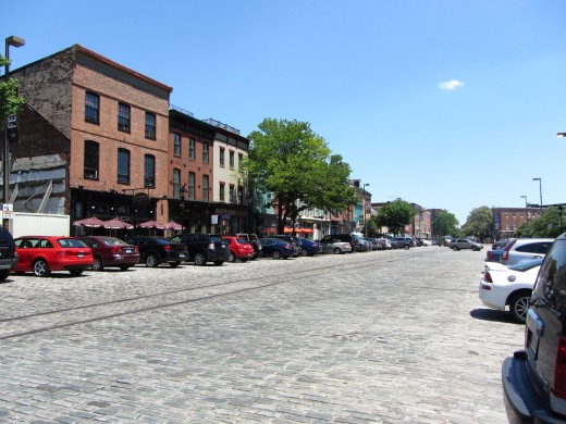 Pubs along Thames Street, Baltimore