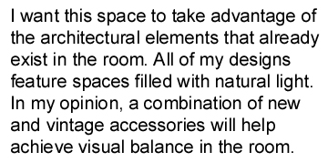 Mission statement for interior design business