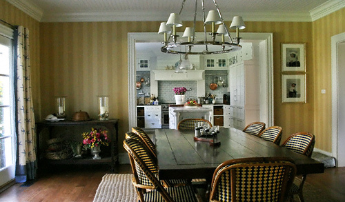 Striped walls add a sense of sophistication to a room.