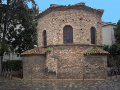 Original Baptistery in Ravenna, Italy builty by Theodoric the Great