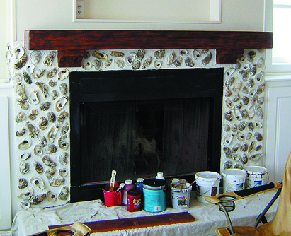 Change your mantel color to coordinate with other elements in a room.