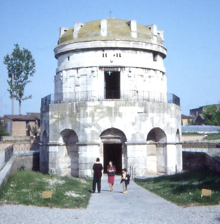 Theodoric's Great Mausoleum in Ravenna, Italy.