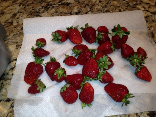 Wash strawberries and let them air dry