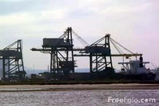 Deepwater Iron Ore terminal near Teesmouth
