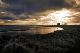 Tees Bay sunrise - for night shift workers time to head for Redcar, a welcome drink and a warm bed!
