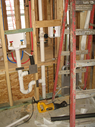 Make sure your plumbing and electrical is in order before you begin your laundry room renovation.