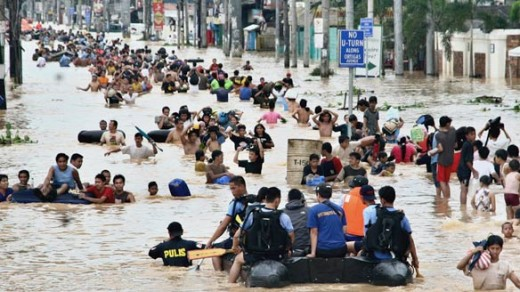 Victims of typhoon Ondoy (Ketsana)
