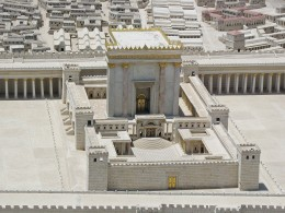 The Second Jewish Temple. Model in the Israel Museum