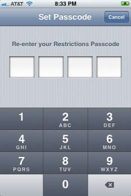 Enter your passcode again.