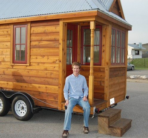 Build a tiny home like this one while in high school to save money on lodging costs for college and beyond.  Find and salvage materials and work in the summer to pay secondhand what you can't find for free.