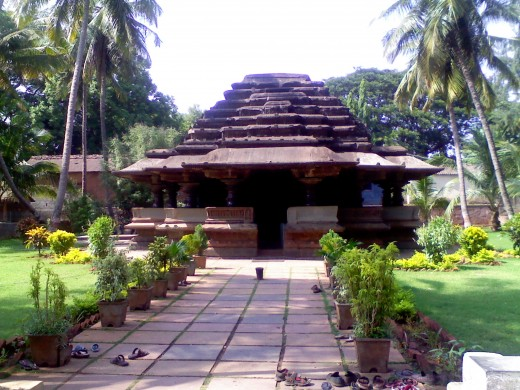 Front view of Kamala Basadi (lotus temple) at Belagaum,Karnataka.It is in the fort area.