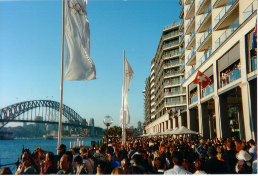 Circular Quay during the Sydney 2000 Olympics