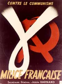 Poster for the Millice, headed by Joseph Darnand