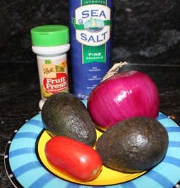 Only 5 simple ingredients will make a delicious batch of guacamole!