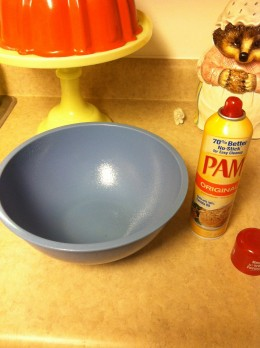 Size of the greased bowl we used!