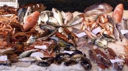 Seafood in an Italian market