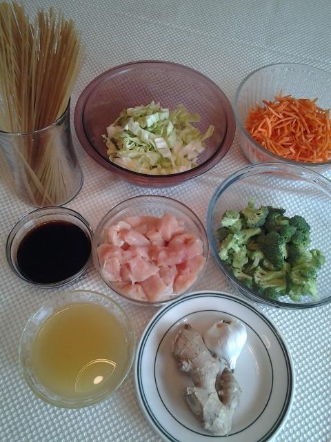 Ingredients for Stir-Fry Chicken
