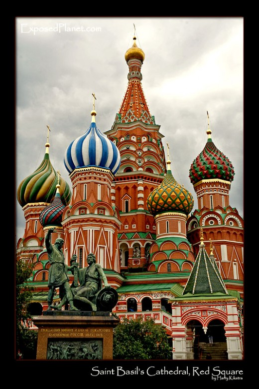 Famous Place in Russia: The Saint Basil at the Red Square