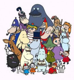 The characters in Moominvalley