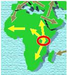 The cradle of mankind in East Africa