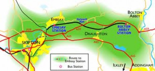The Embsay & Bolton Abbey Railway near Skipton