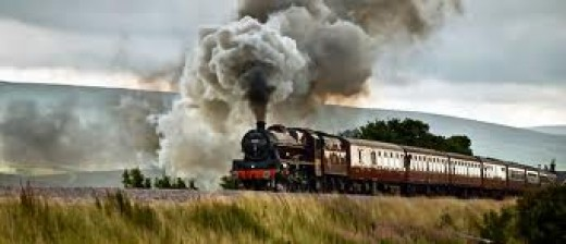 Steam special on the S&CR headed by one of the preserved LMS locomotives