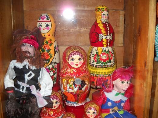 A shop selling Russian Dolls.