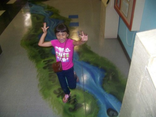 My daughter runs the length of the aquifer at The Children's Museum.  Learning about aquifers is fun!