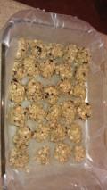 Gluten Free No Bake Cherry Walnut Flax Seed Cookies